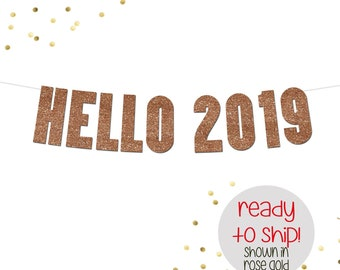 hello 2019 banner happy new year banner new years eve party decor new years decorations new years banner happy new years banner