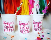Bachelorette Party Cups Final Fiesta Cups, Hens Cups, Personalized Cups, Custom Party Cups, Bachelorette Party Favors Ole Before the Big Day