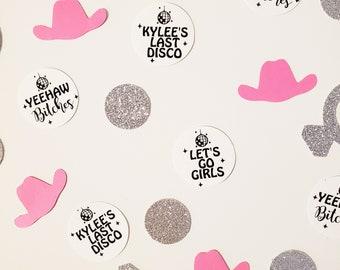 Disco Cowgirl Bachelorette Party Personalized Confetti, Cosmic Cowgirl Bachelorette Party, Yeehaw Bitches, Last Disco Bachelorette Party