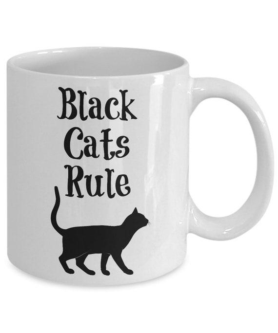 Black Cat Mug Cat Coffee Mug Cat Gift For Her Gift For Him Etsy
