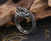 Adjustable Norse Vikings Dragon Ring Goth Rings Coiled Claw Talon Ring Fashion Rings-Bird Of Prey Raptor Raptors-Nickel Free Ring
