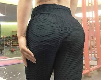 9dd2a9ae1e Woman's Booty Leggings Yoga Pants Bubble Butt Gym Legging Girls Athletic  Training Crossfit Apparel Brazilian Booty Scrunch Warmers