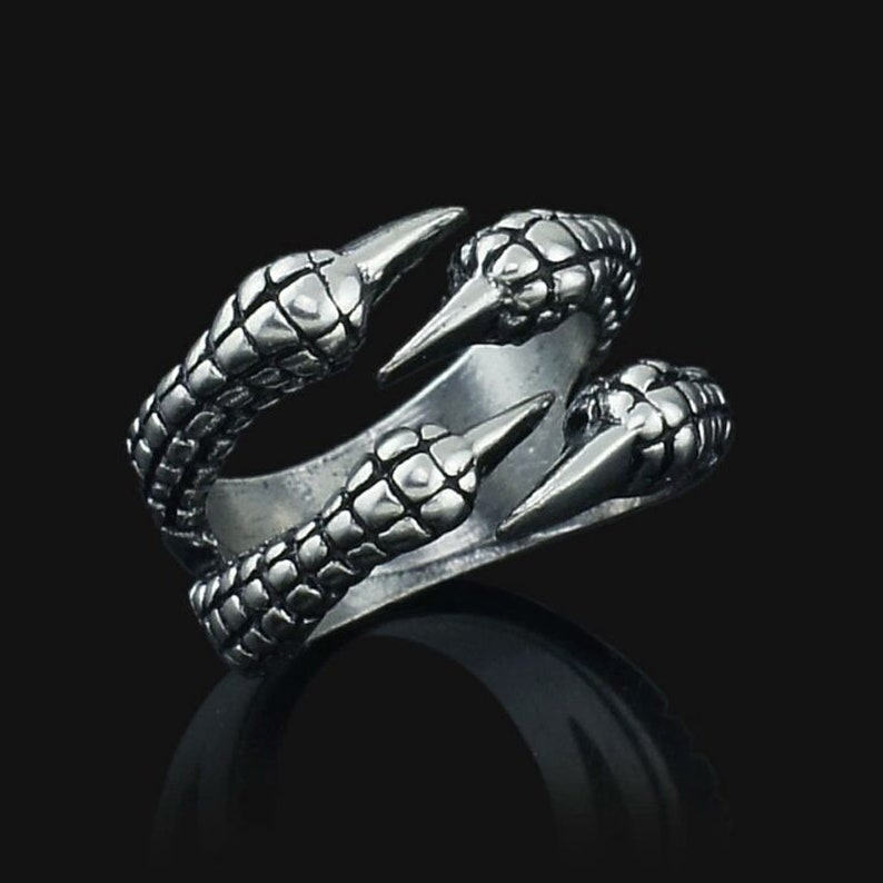 Prey Wedding Ring.Adjustable Norse Vikings Dragon Claws Ring Goth Rings Coiled Claw Talon Ring Fashion Rings Bird Of Prey Raptor Raptors Nickel Free Ring