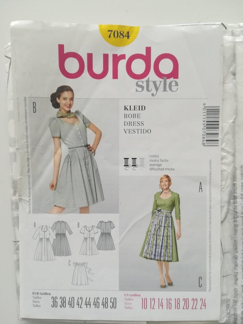 Pattern Number 7084 Burda Pouch Pattern Burda Pattern Clutch 36 In The 50 Vintage Dress Pattern Dress Vintage Dress Apron