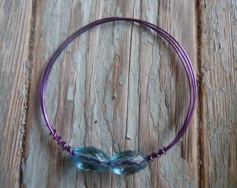 Purple Wire Bangle