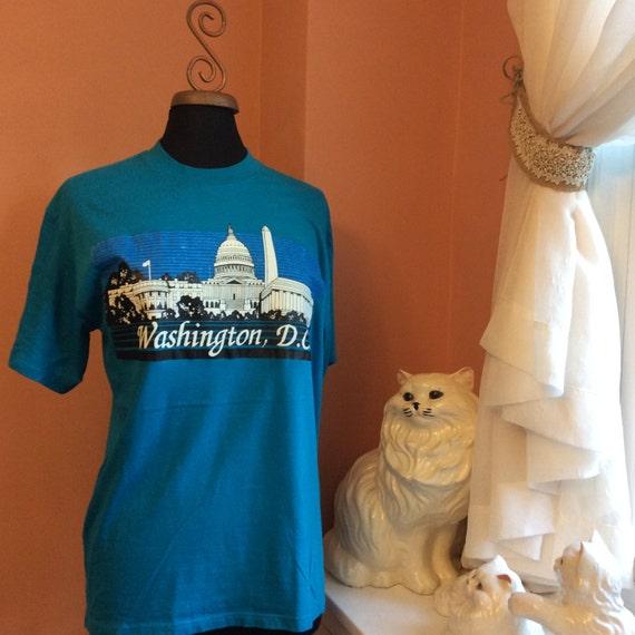 Vintage Tshirt, 80s T-shirt, Washington DC, Touris