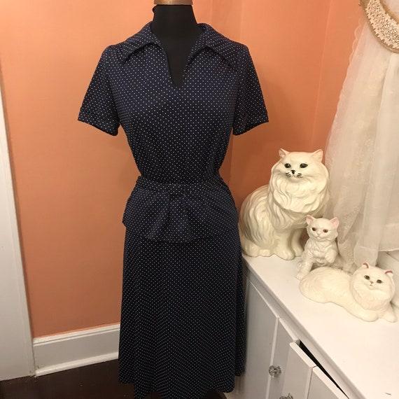 Schmetterling Rock KostümM Top Jahre SetMarine Kleid70er Gepunktetem Vintage SekretärinBibliothekar Blau Und KragenSexy Weiß OkPwiXZuT