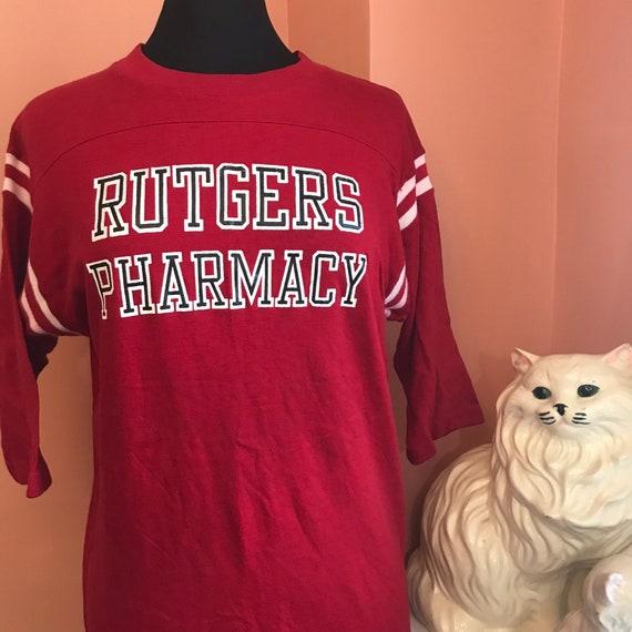 Rare Artex Knights A837 Vintage Pharmacist Gift University Shirt Scarlet XL Pharmacy Shirt 70s Rutgers Varsity Vintage tOqCgaw