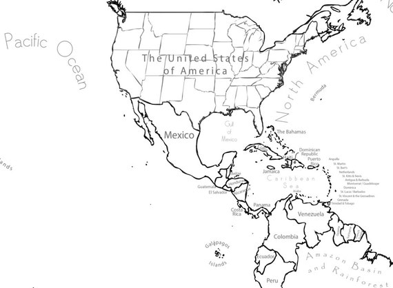 world map coloring page printable world map scrapbook size etsy Marshall Islands Location On World Map 50