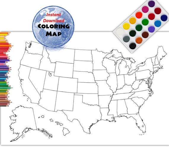 Etsy Coloring Map USA Coloring Page | USA Outline | Plain - No Labels on us map with labels, usa map no names, usa map no lines, usa map labeled, map of usa with labels, usa map no color, usa powerpoint, usa food map, texas biomes with labels, usa map with no words, usa map hd, usa map with abbreviations, usa map with state labels, usa map blank worksheet, united states no labels, usa no states, us states no labels, usa map to label, north america map with labels, usa map wireframe,