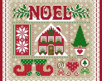 Noel Christmas Sampler Cross Stitch Chart PDF