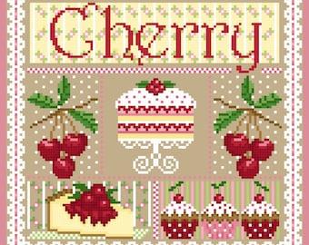 Cherry Sampler Cross Stitch Chart PDF