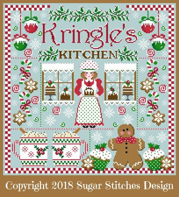 Kringles For Christmas.Kringle S Kitchen Christmas Sampler Cross Stitch Pdf Chart