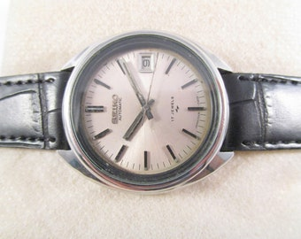 5e152f6af1f 100% Authentic VINTAGE SEIKO 5 7009 17 J Original Dial Date Automatic Japan  Made Wrist Watch