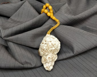 Large barnacle encrusted shell necklace