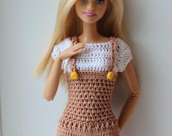Barbie Kleid Häkeln Etsy