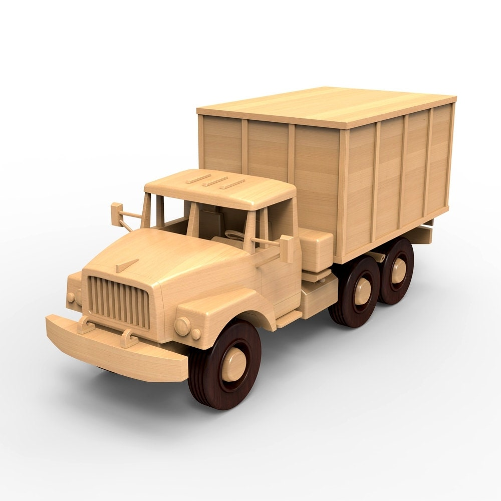 russian zil-131, wooden truck model woodworking plans for diy. pdf digital  file instant download. make your own truck. light wood, dark wood