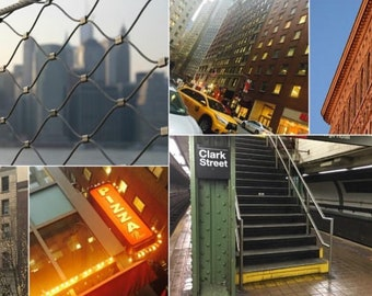 NYC color photography collage