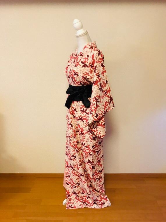 Pink and white,flower kimono,silk kimono, vintage… - image 3