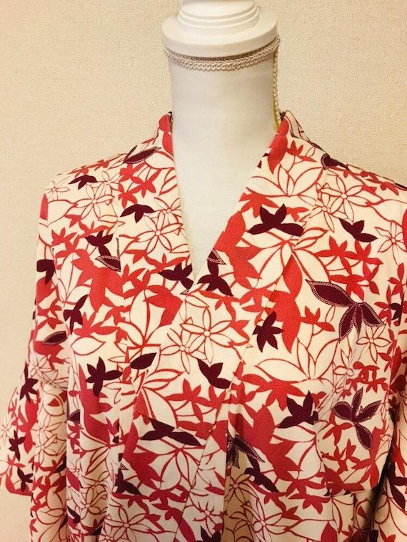 Pink and white,flower kimono,silk kimono, vintage… - image 6