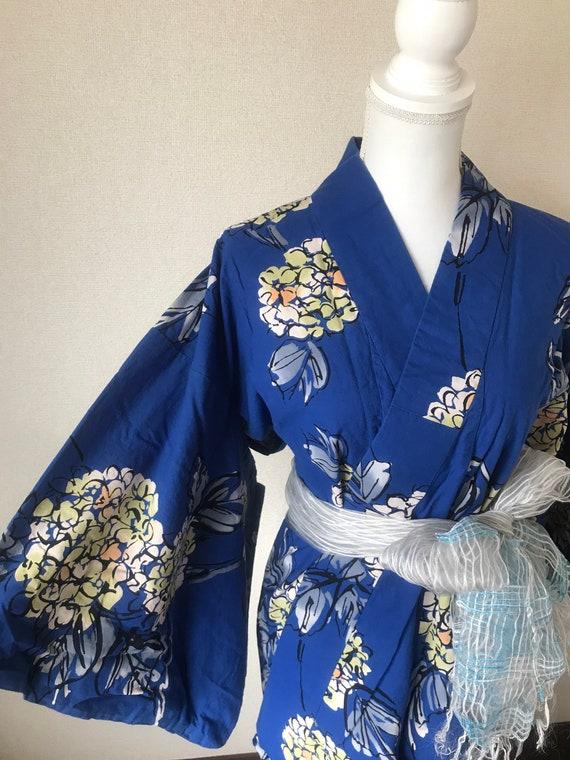 Kimono / Yukata / hydrangea/ summer kimono/ cotton