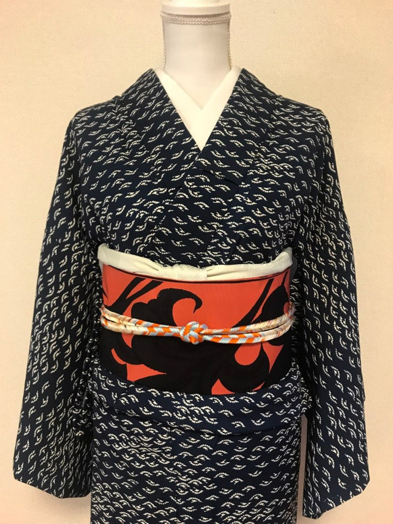 Vintage Blue kimono  home cleaning