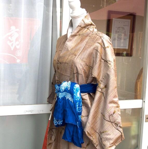 Brown kimono,vintage kimono,silk tsumugi,silk kim… - image 6