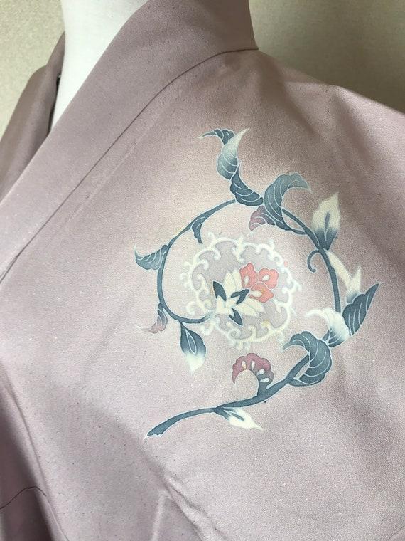 Purple silk kimono / flower kimono