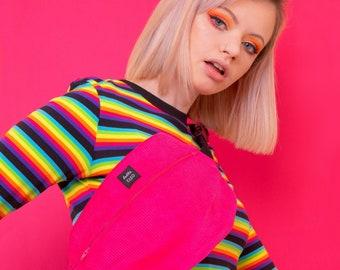 Pink Corduroy Bum Bag, Belt Bag, Bright Pink, Corduroy, Crossbody Bag