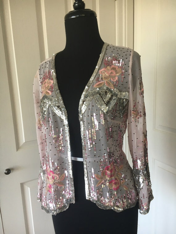 Sheer Glamour! Vintage Sequinned Embroidered and B
