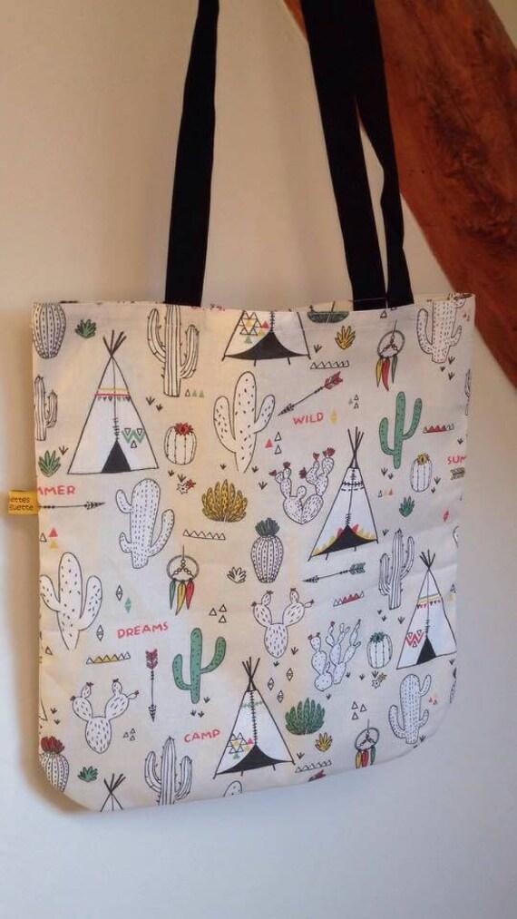 f138d532a Bolso / bolsa de compras / tote bag thipi & cactus | Etsy