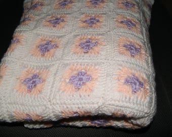 Lilac& Peach granny squares