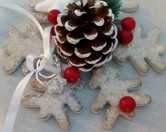 Snowflake winter theme holder