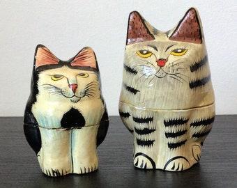 paper mache,cat,animal,figurine