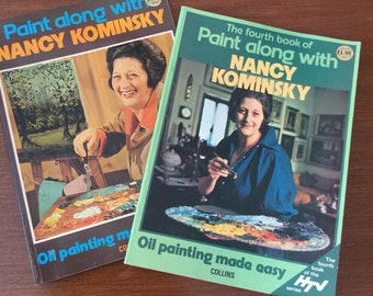 Vintage 1974 And 1977 Pair Of Nancy Kominsky Books - Oil Painting Made Easy