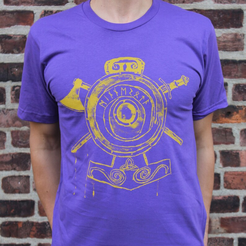Minnesota Vikings Art-Inspired Tee  Valhalla Awaits image 0