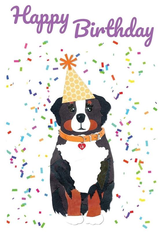 Happy Birthday Bernese Mountain Dog