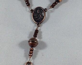 Copper Finger Rosary