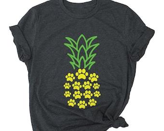 0a599f79 Cute Pineapple Shirt - Pineapple Gifts - Pineapple Tshirt - Beach Shirts  for Women - Dog Lover Shirt - Dog Mom Tee