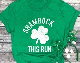 d5b5c7462 Shamrock This Run - Jogging T-Shirt - St Patricks Day Running Shirt - Run  Tshirts - Marathon Tshirt - 5k Shirts - St Paddys Day Shirt