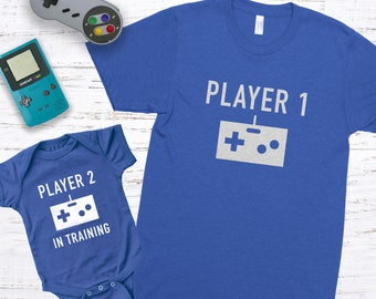 Gamer Dad Gift Funny Father/'s Day Gift Future Gamer Dad and Baby Matching Shirts