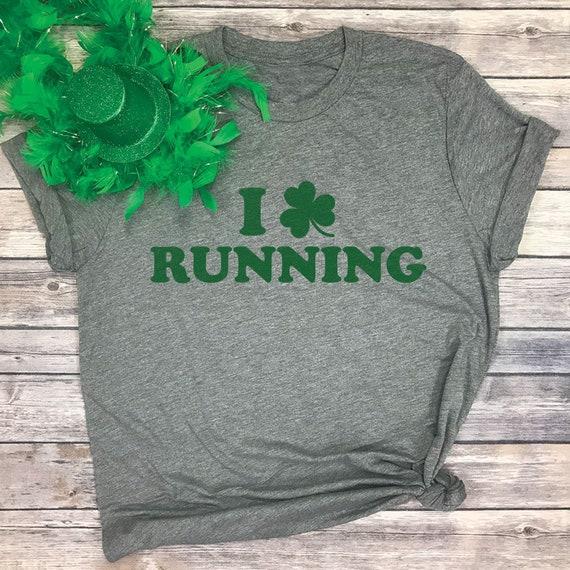4c69f5819 I Love Running St Patricks Day Running Shirt Running | Etsy