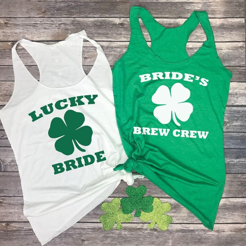 d36532e45 St Patricks Day Bachelorette Party Bridal Party Tank Tops | Etsy