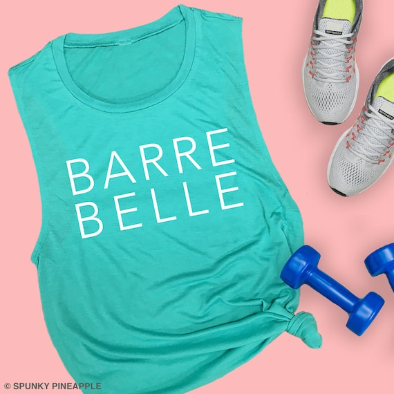 Barre Belle  Muscle Tank   Workout Tank  Woman/'s Exercise Tank