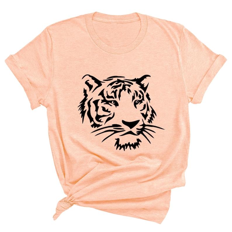 Tiger Shirt Animal Face Shirt Unisex Graphic Tee