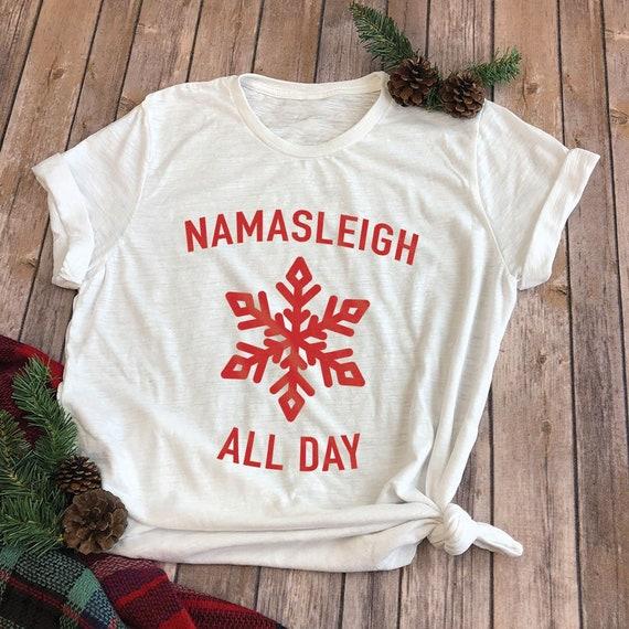 1a14262bf Namasleigh All Day Yoga Christmas Shirts Christmas Shirt | Etsy