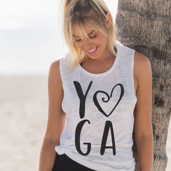 ae29020df8 Yoga Lover Gift Yoga Tank Tops for Women Muscle Tank Yoga | Etsy
