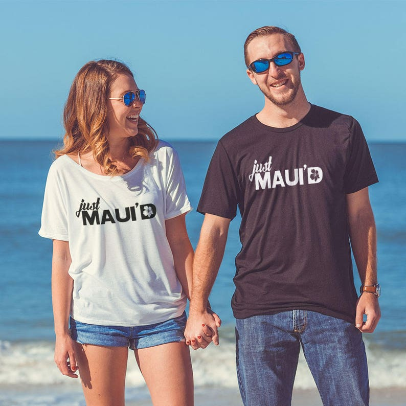Wedding Shirts  Just Maui'd  Just Married Men's image 0