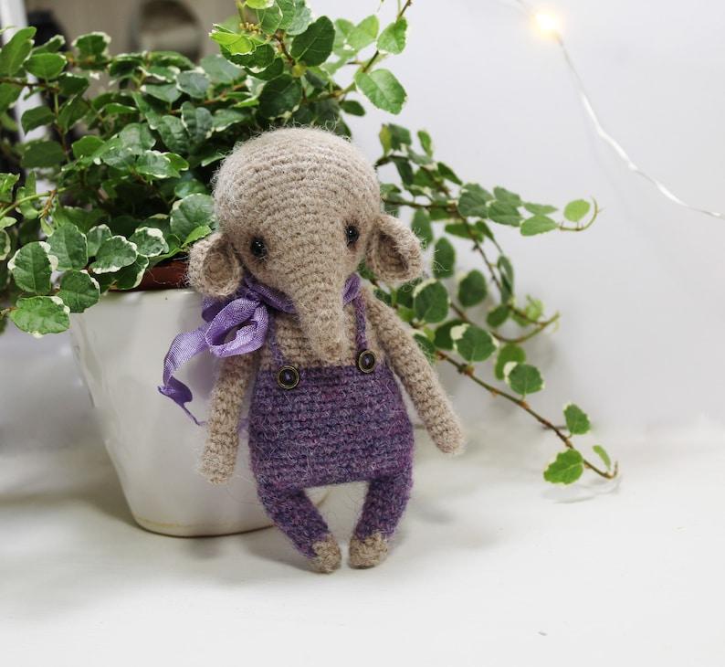 Amigurumi Crochet Mini Elephant Pattern by Little Bear Crochets | 730x794