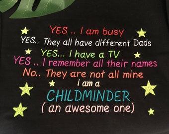 Childminder childcare sweatshirt embroidered
